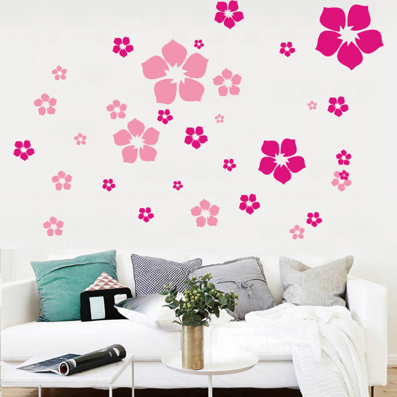 Buy fashion removable beautiful flowers - Beautiful wall stickers for living room ...