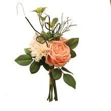 Artificial flower muya dahlia peony bunch home decoration wedding holding flowers road lead fake