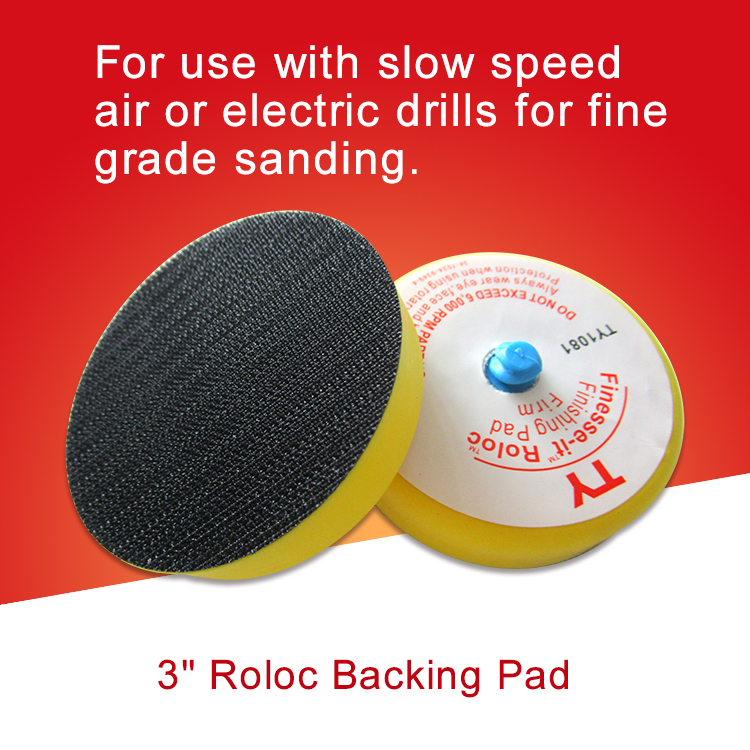 3 Inch Roloc Finishing Pad Backing Pad Supporting Drills for Sanding Polishing