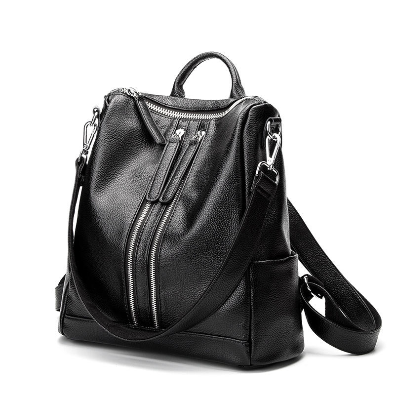 Fashion Casul High Quality Women Backpacks Womens PU Leather Backpacks Girl School Bag L ...