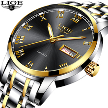 LIGE Watch Men Fashion Sports Quartz Watches Analog Wristwatch Top Brand Luxury Man Waterproof Auto Date Clock Relogio Hombre bewell wooden watch men wood auto date wristwatch men s quartz watch top brand luxury watches men clock with paper box 109a