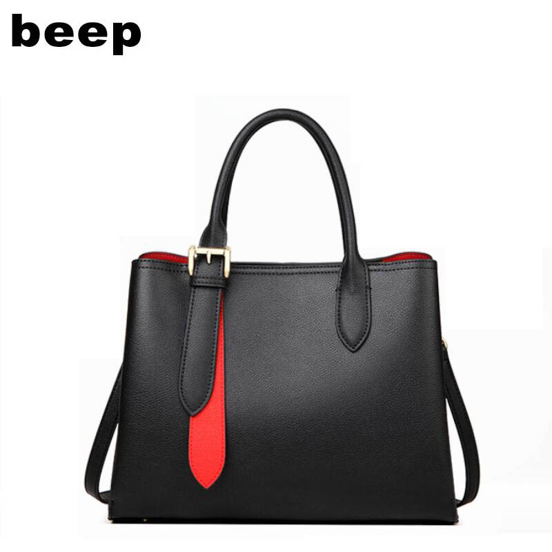 BEEP high quality fashion luxury brand 2019 new large capacity handbag wild leather handbags atmosphere shoulder Messenger bagBEEP high quality fashion luxury brand 2019 new large capacity handbag wild leather handbags atmosphere shoulder Messenger bag
