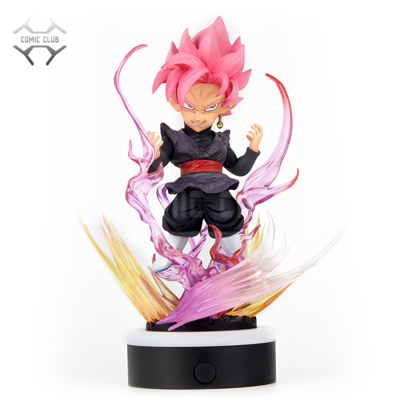 COMIC CLUB IN STOCK Dragon Ball Z 24cm SD black rose goku gk resin figure toy contain led light for Collection - 1