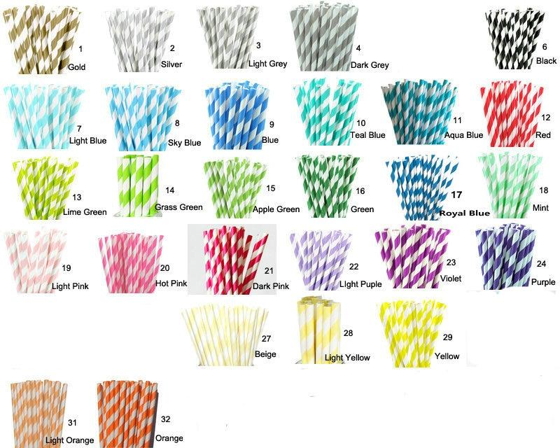 Hot Sale 100pcs Paper Straws...