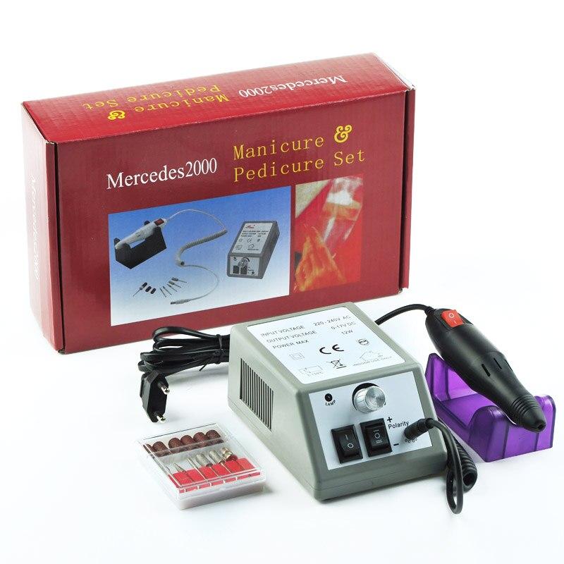2019 profissional 20000 rpm eletrica maquina de broca do prego acrilico lixa prego broca manicure pedicure