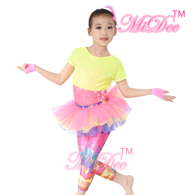 MiDee Hip Hop Dancewear Jazz deporte gimnasia Cheerleaders Cheer ropa ea72d9724ee