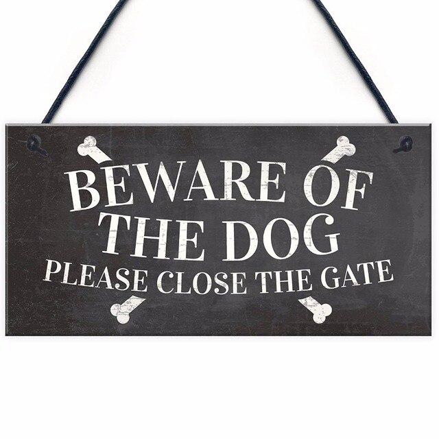 Meijiafei Beware Of The Dog Warning Sign Garden Gate House Door