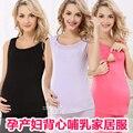 2016 verano más nuevo atractivo de las mujeres de maternidad embarazo enfermería lactancia chaleco tank tops blusa