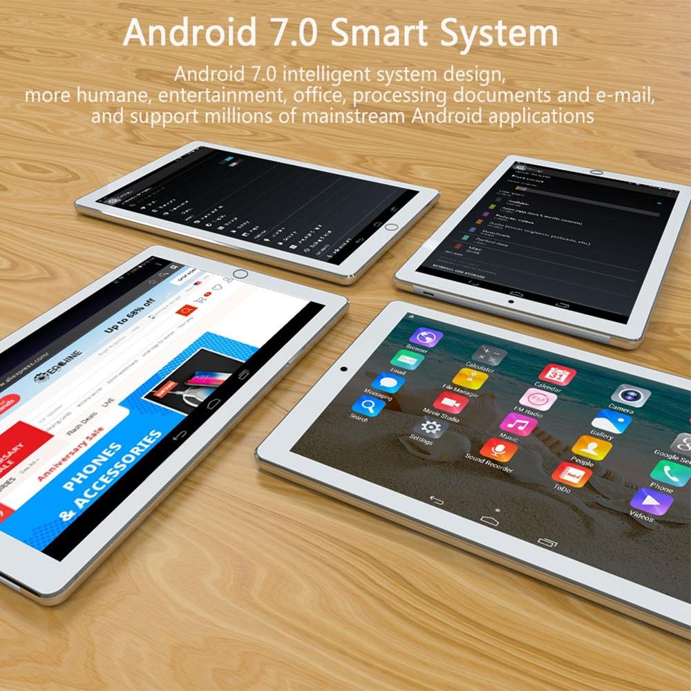 כיריים שניי להבות ANRY Tablet 1006 10 אינץ PC 4G אנדרואיד 7.0 טבליות סופר Core אוקטה 4 GB זיכרון RAM 64 SIM GPS GB רום WiFi משחק לוח IPS MTK כפול (5)