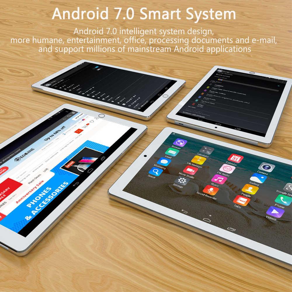 Anry 1006 10 Inch Tablet PC 4G Android 7.0 Octa Inti Super Tablet 4 GB RAM 64 GB ROM WIFI GPS Permainan Tablet IPS MTK Dual SIM