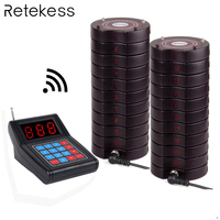 Restaurant Pager Draadloze Paging Queuing Systeem 1 Zender + 20 Coaster Pagers Oplaadbare Restaurant Apparatuur F4475