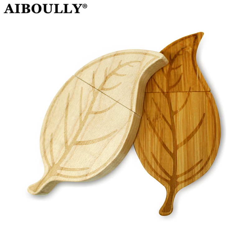 wooden leaf usb flash drive 4GB 8GB 16GB 32GB 64GB usb Stick leaves pen drive Memory Stick pendrive Wood usb flash цена