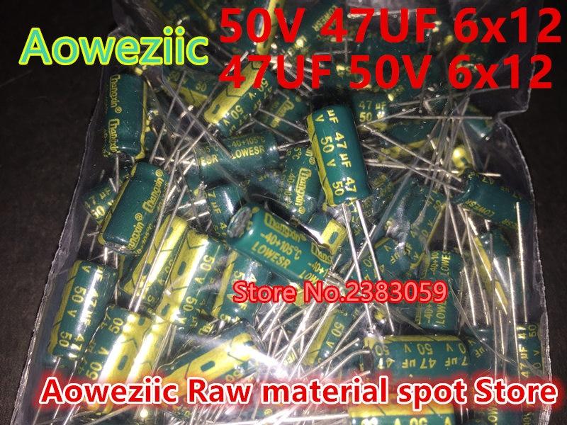 Aoweziic {100 PCS} Capacitor (50V 47UF  6x12 47UF 50V 6*12 )(63V 47UF  8x12 47UF 63V 8*12 )( 50V 1UF  4x7 1UF 50V 4*7 ) 100 pcs lot cbb capacitor 630 v473 473 k 473 v 47 nf feet from 10 mm cbb22 film capacitor
