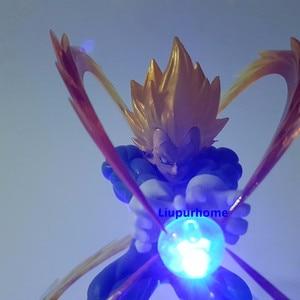 Image 5 - Figuras de acción de Goku, modelo en PVC de padre e hijo de Dragon Ball Z Vegeta, Goku Super Saiyan Vegeta, Goku, juguete para regalo