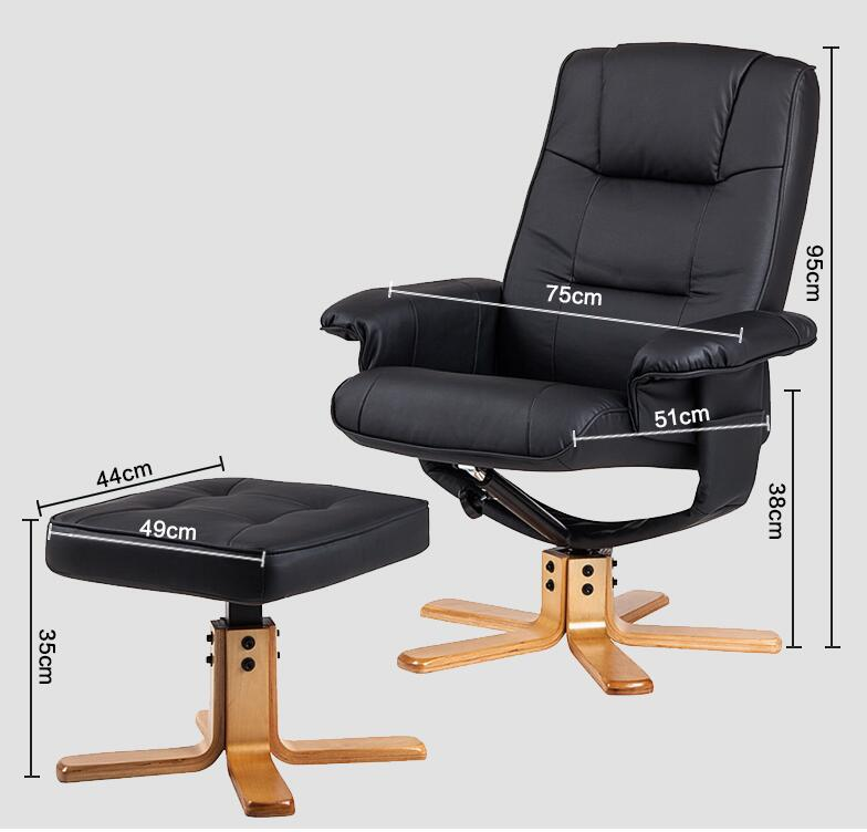 Modern Leisure TV Recliner Chair Lounger Armchair Swivel Seat With ...