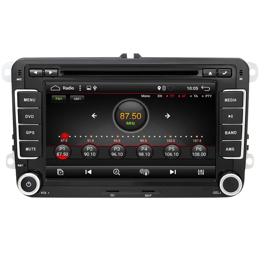 Eunavi 2 Din Android 9,0 Auto DVD Radio GPS navi Für VW GOLF 6 Polo Bora JETTA B6 PASSAT Tiguan SKODA OCTAVIA IPS TDA7851 4G 64G