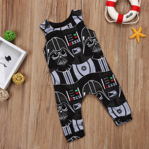 be50e7571 Toddler Kids Baby Boys Star Wars Romper Jumpsuit Clothes Outfits 0 3Y  Sleeveless Pullover Hot Casual New Casual -in Rompers from Mother & Kids on  ...
