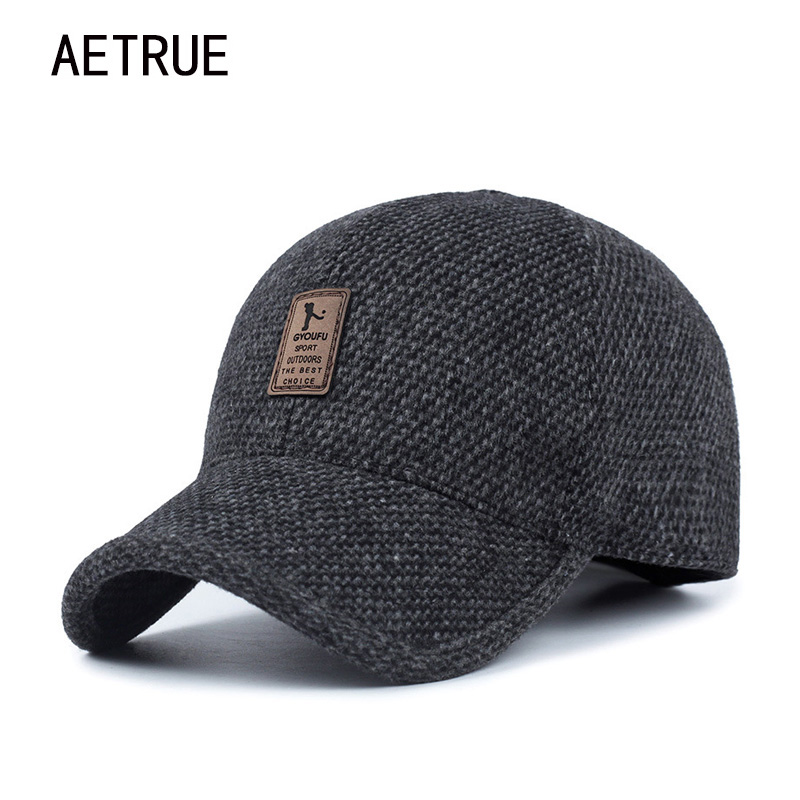 aetrue men snapback baseball cap brand bone homme earflaps dad hats for men gorras casquette. Black Bedroom Furniture Sets. Home Design Ideas