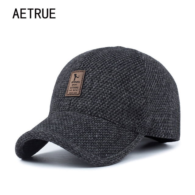 9780cedbd91 AETRUE Men Snapback Baseball Cap Brand Bone homme Earflaps Dad Hats For Men  Gorras Casquette Chapeau