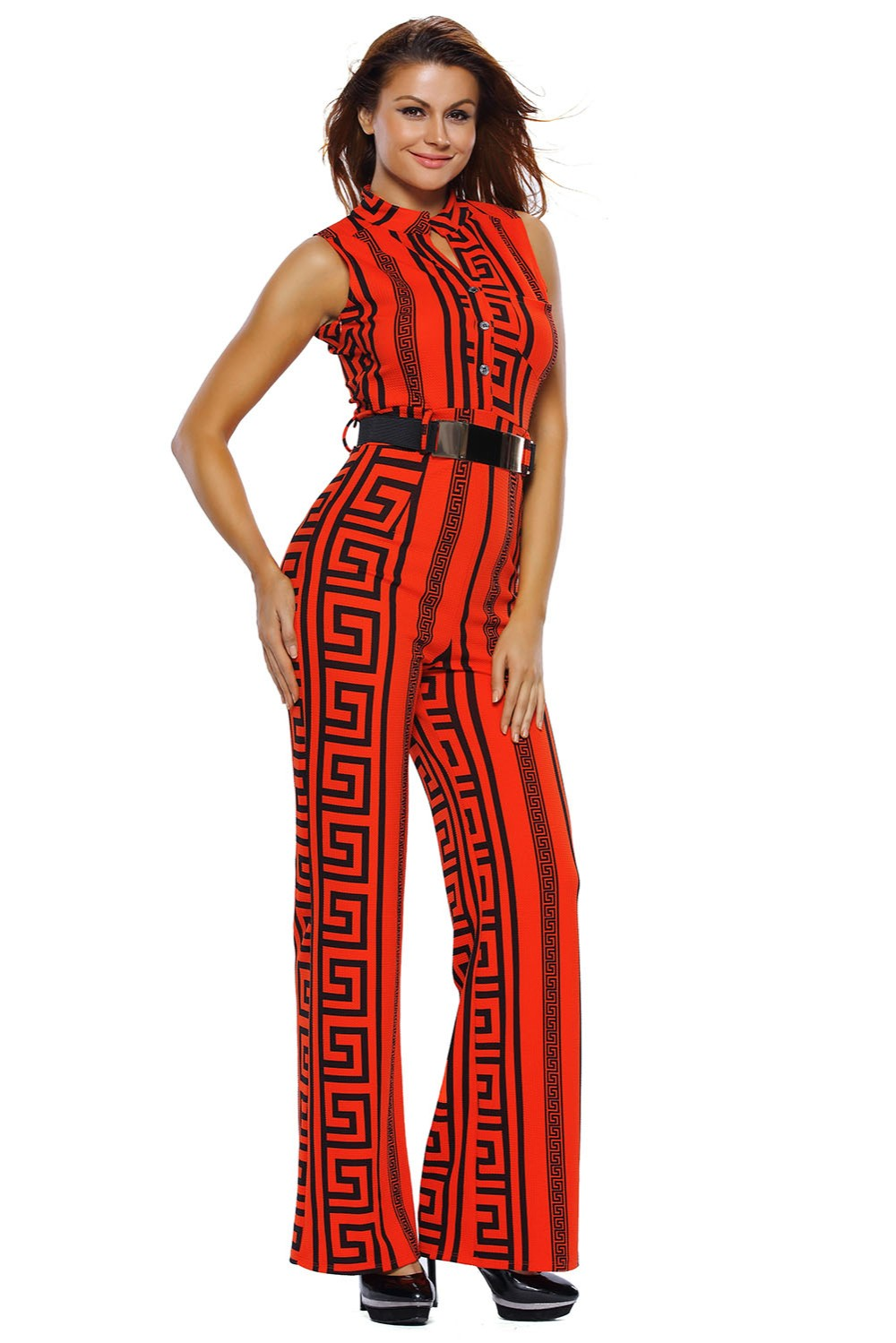 Red-Print-Gold-Belted-Jumpsuit-LC64021-3-7