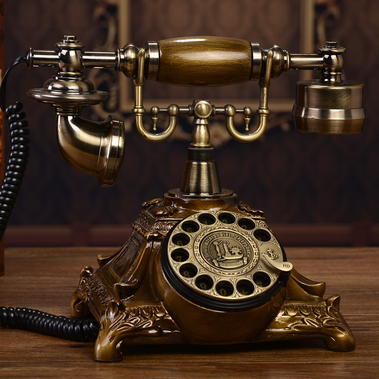 European antique vintage retro dial telephone landline antique rotary dial high grade household telephone corded phone ringing