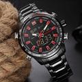 Naviforce marca de lujo de los hombres de acero completo impermeable relojes de cuarzo de los hombres led digital reloj de hombre deportivo reloj de pulsera relogio masculino