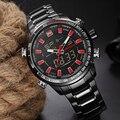 Naviforce marca de luxo homens de aço cheio relógios à prova d' água relógio de quartzo dos homens led relógio digital esporte masculino relógio de pulso relogio masculino
