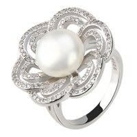 Cluci Красивая Blossom кольцо с 100 шт. цирконами, S925 Серебряное обручальное кольцо, романтический подарок для подруги/жена, бесплатная доставка