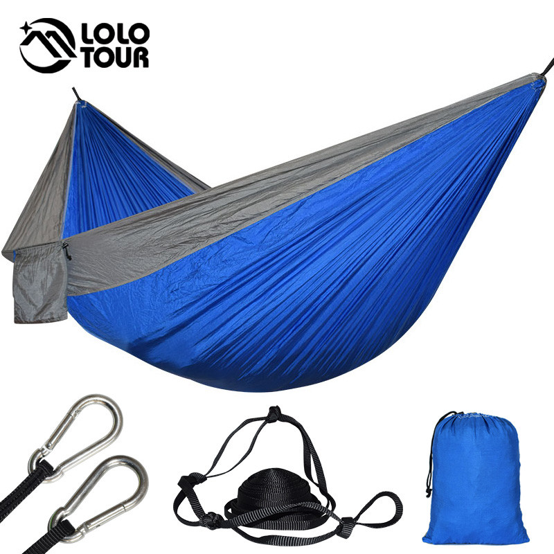Large Size 2 People Parachute Hammock Tent Portable Outdoor Survival Camping Garden Leisure Travel Rede Patio Furniture