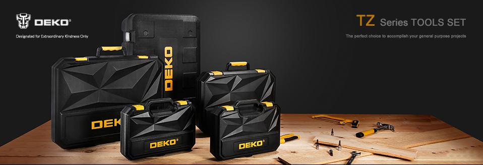 DEKO tool 46pcs 1/4-Inch Auto Repair Tool Combination Package Socket