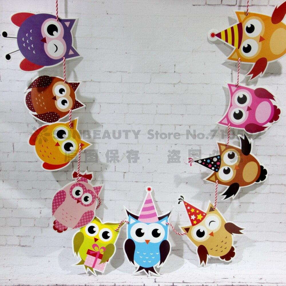 Owl Decor For Bedroom Aliexpresscom Buy Owl Garland Bird Bunting Nursery Animal