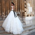 Vestido De Noiva New Arrival Long Ball Gown Wedding Dress 2017 Vintage Lace Cap Sleeve Sexy Backless Wedding Gowns with Ribbons