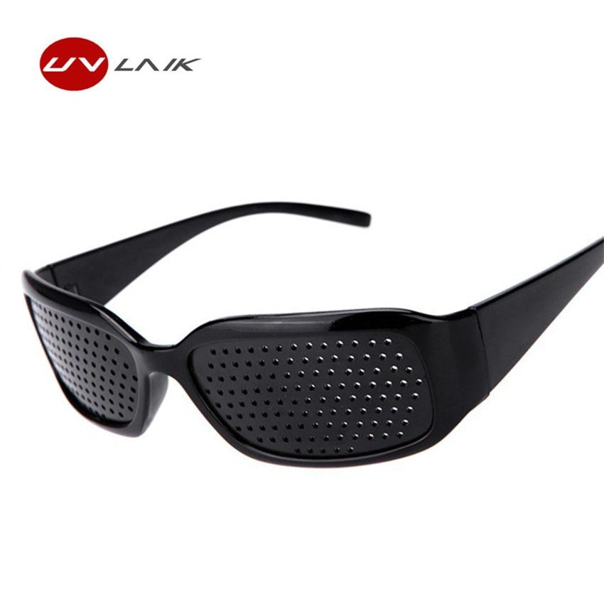 Black Pinhole Sunglasses Women Men Anti Fatigue Vision