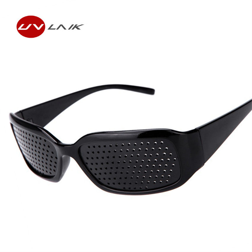 UVLAIK Black Pinhole Sunglasses Women Men Anti-fatigue Vision Care Pin hole Microporous Glasses Eye Exercise Anti-myopia