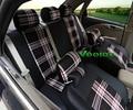 Veeleo + 6 Cores Universal Car-Cobre Tampa de Assento Do Carro Para Dacia Duster Sandero Logan Carro Tecido de Linho 3D Styling
