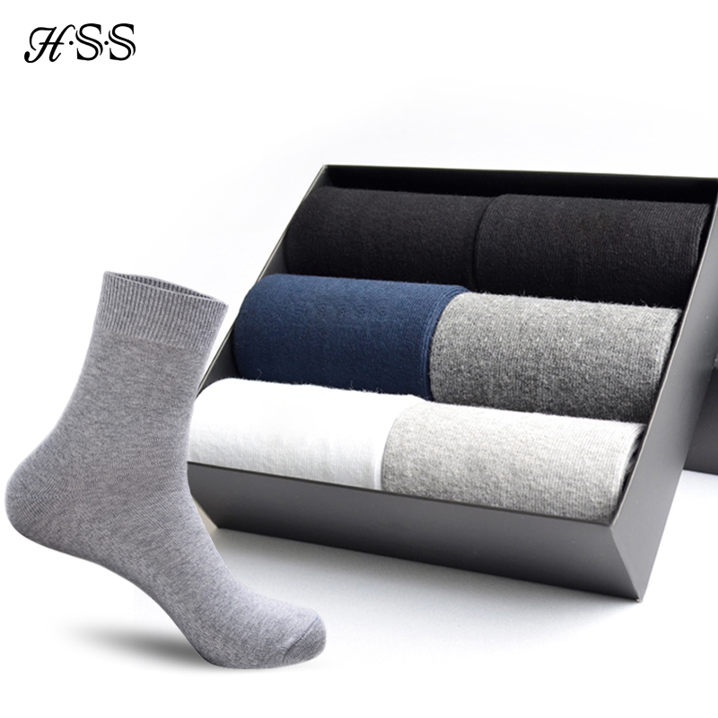 HSS 5pairs/lot High Quality Men Cotton   Socks   New Casual Business Summer Thin Black   Socks   Deodorant Breathable Man Long   Sock