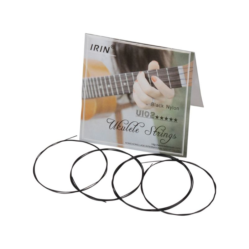IRIN U102 Ukulele Strings Black Nylon Strings 1st-4th(0.56 0.71 0.81 0.56mm)