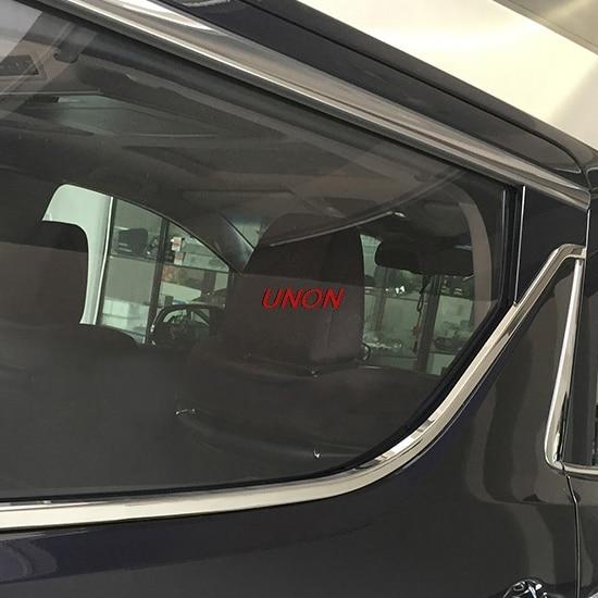 Stainless steel rear window garnish pillar middle door decoration trim For Toyota Alphard Vellfire 30 2016 2017 2018