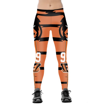 Unisex Football Team Bengals 99 Print Tight Pants Workout Gym Training Running Yoga Sport Fitness Exercise Leggings Dropshipping 1