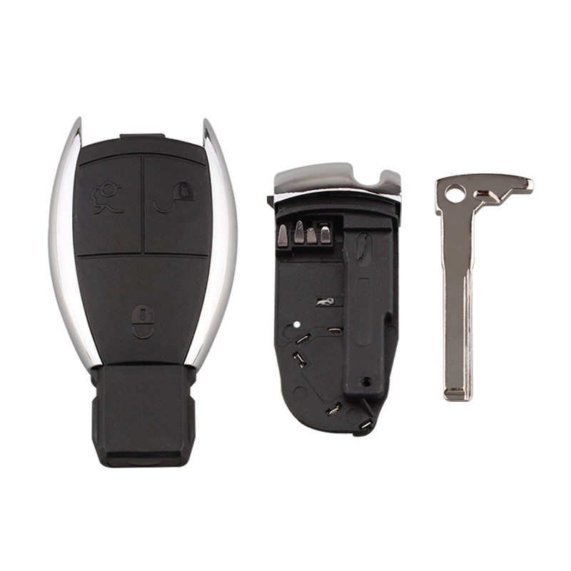 3 Buttons Remote Smart Key Shell Case For Mercedes Benz C E S Class SL Car key shell with Blade