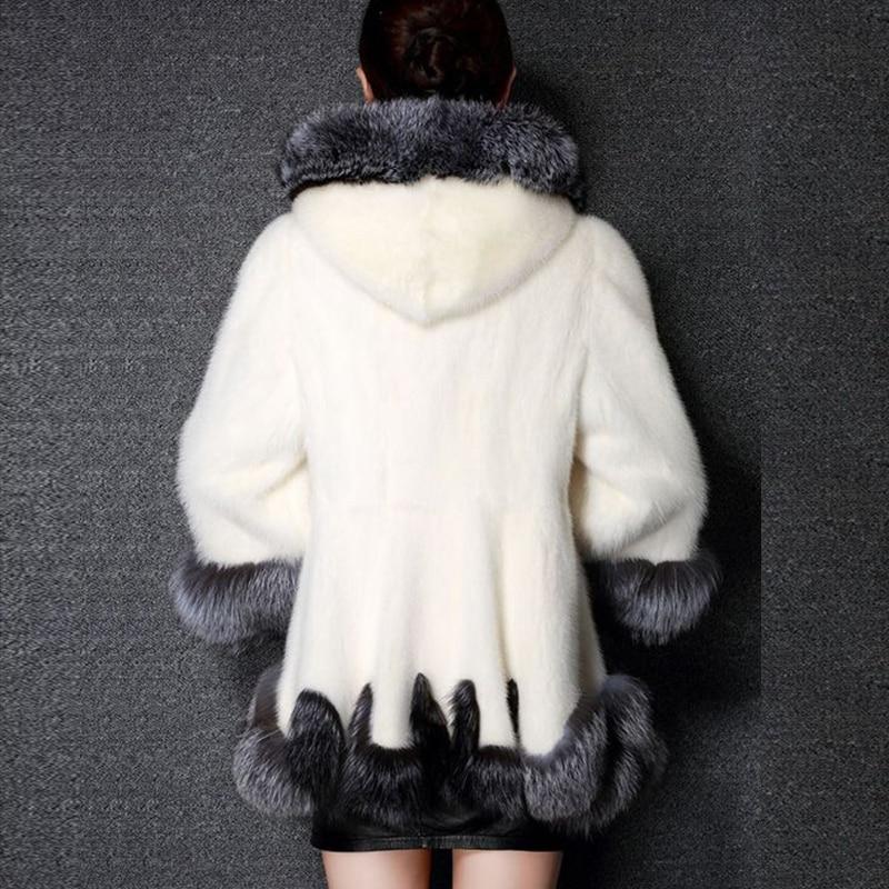 Krzneni kaput od visokog imitacije, srebrni krzneni ovratnik, - Ženska odjeća - Foto 4