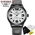 Hk marca oneloong fotina esportes relógios mens relógio de pulso para homens relogio masculino moda data de couro relógio masculino relógio de quartzo