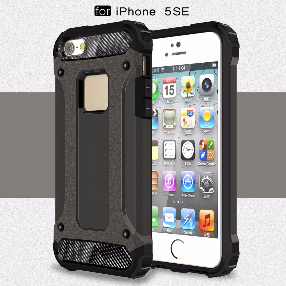 case for iphone 5se cover dual layer armor pc tpu coque case for apple iphone 5 5s 5se cover. Black Bedroom Furniture Sets. Home Design Ideas