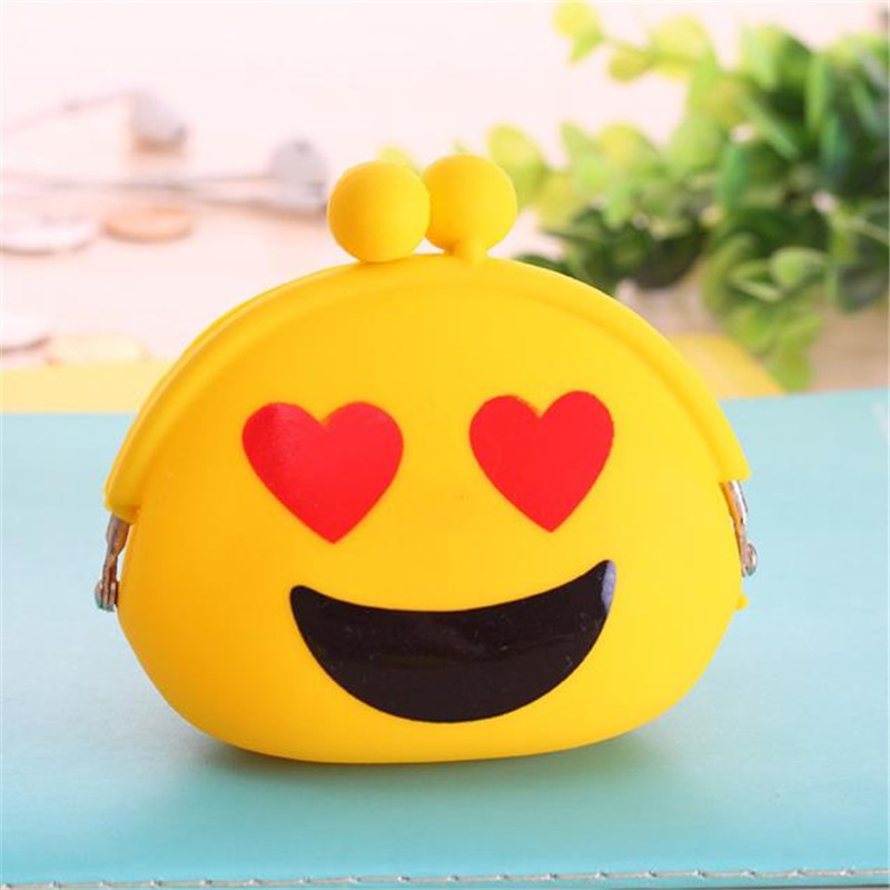Women's Coin Purse Lady's Handbags Bags Wallet Clutch Credit ID Cards Holder Silicone Laides Change Cute Yellow Love Carteira silicone cartoon cute id credit card holder bus card student id badge id name business credit cards cover unistyle