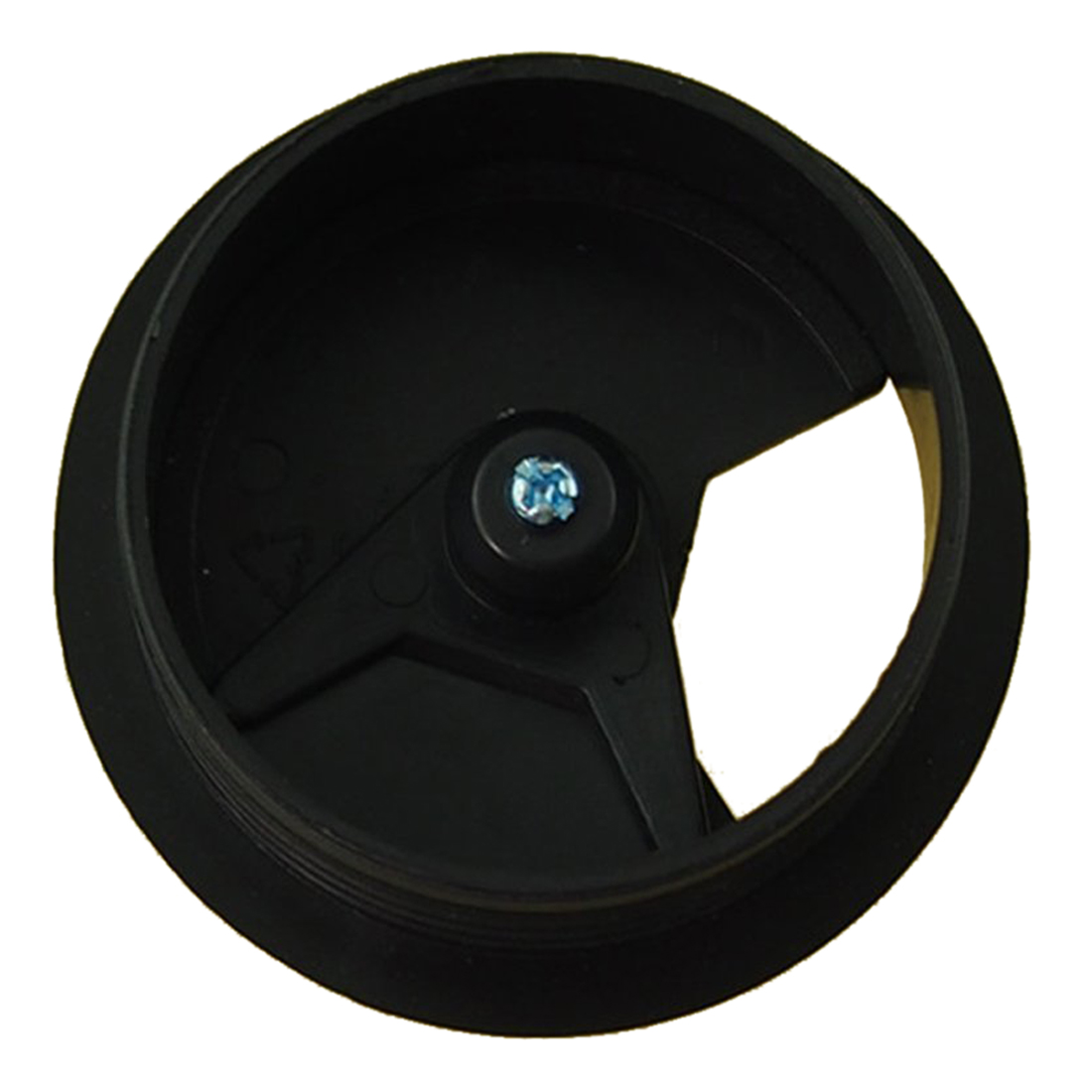 Furniture Black 60mm Round Grommet Cable Hole Cover For Computer Desk 5 Pcs