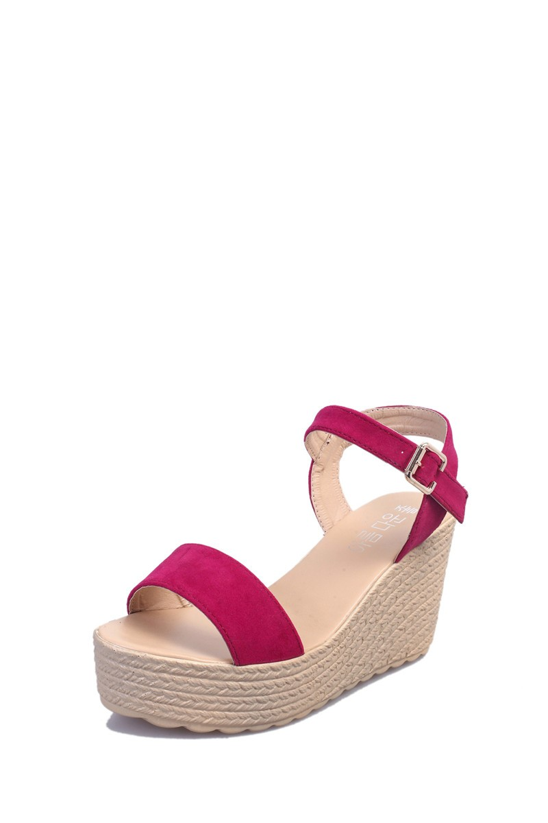 2016 new summer women wedges sandals Thick Soled Shoes Solid 4 colors open toe Women Ladies Sandals HSD06 (4)