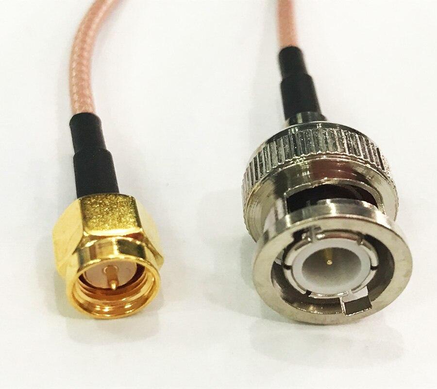 10 шт. BNC штекер SMA штекер RF разъем адаптера кабель RG316 20 см
