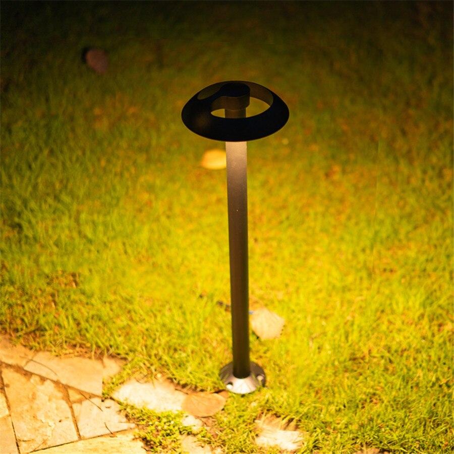 Thrisdar moderno Simple Park Villa césped lámparas de aluminio seta césped luz paisaje camino Patio Bollard Luz - 3