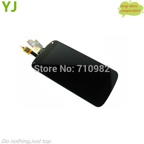 HK free shipping 100% Tested LCD Display + Touch Screen Digitizer Assembly Parts for LG Google Nexus 4 E960