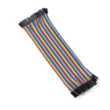 Новый Стиль Продажи! 40 Шт. Красочный 1 Контактный Разъем для Женский Соединительный Кабель Провода 20 см Долго